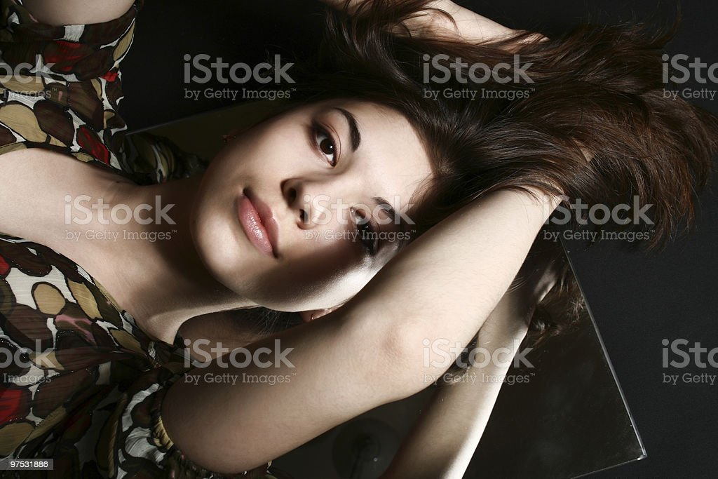 Beautiful woman. Fashion art photo royalty-free stock photo