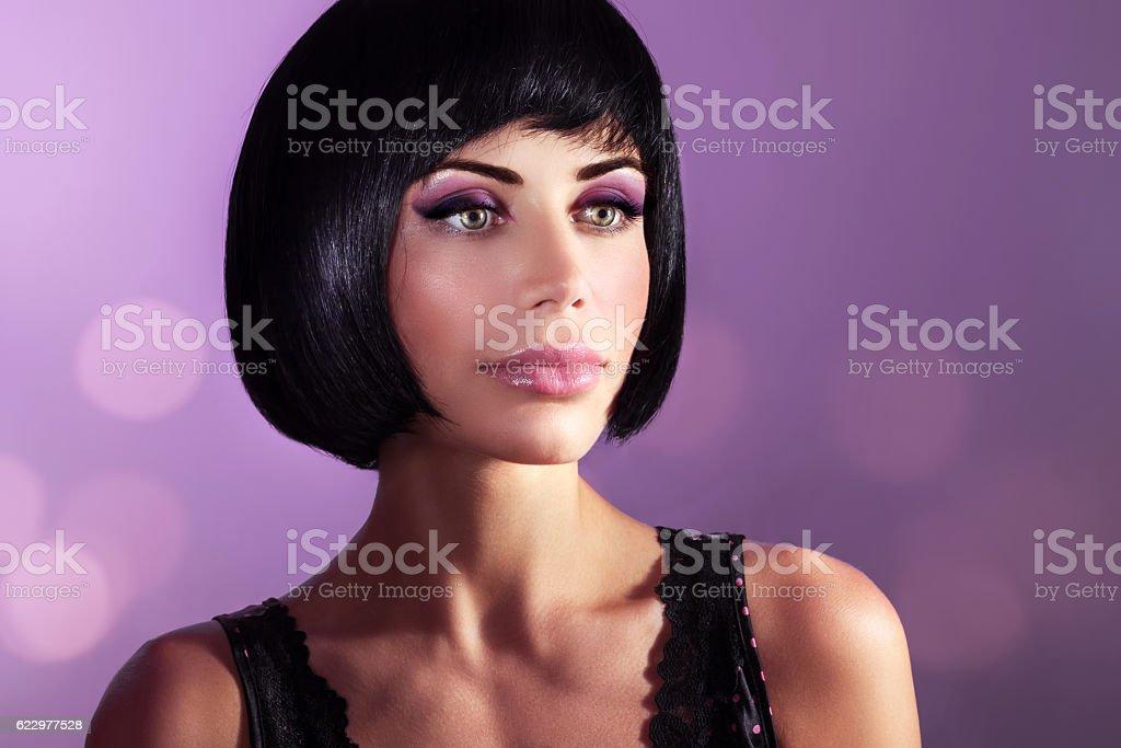 Beautiful woman fashion portrait stock photo