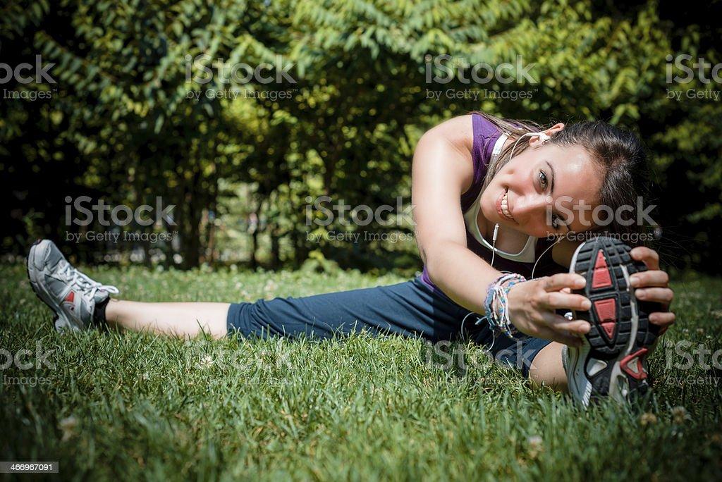 beautiful woman fitness running royalty-free stock photo