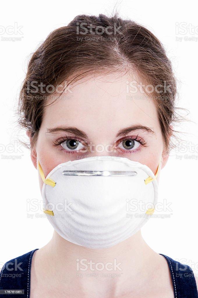 Beautiful Woman, Flu/Face Mask royalty-free stock photo