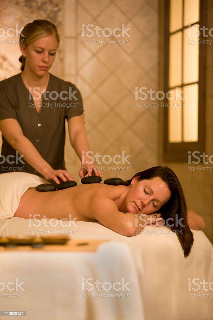 Beautiful Woman Getting A Massage royalty-free stock photo