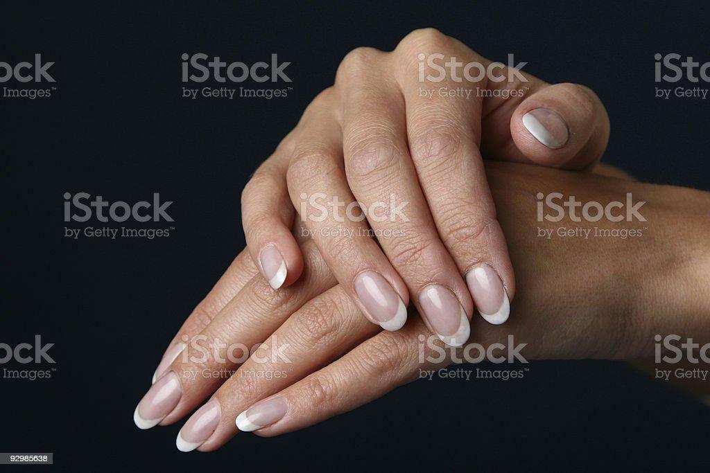 Beautiful woman hand royalty-free stock photo