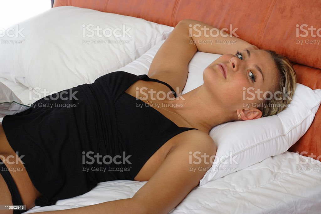 beautiful woman has a rest royalty-free stock photo