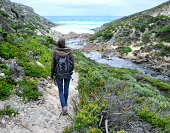 Beautiful woman Hiking, Kangaroo Island, Australia
