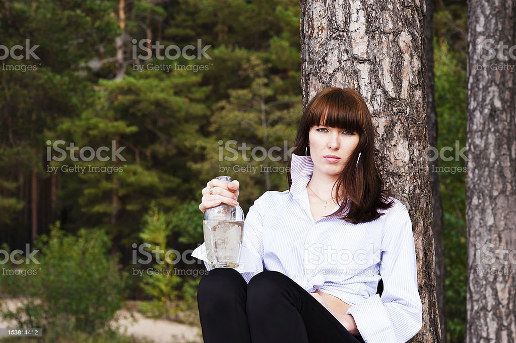 beautiful woman in a shirt royalty-free stock photo