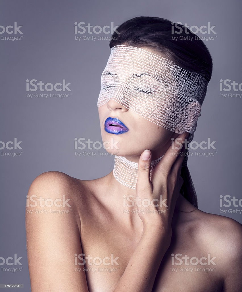Beautiful woman in bandages royalty-free stock photo
