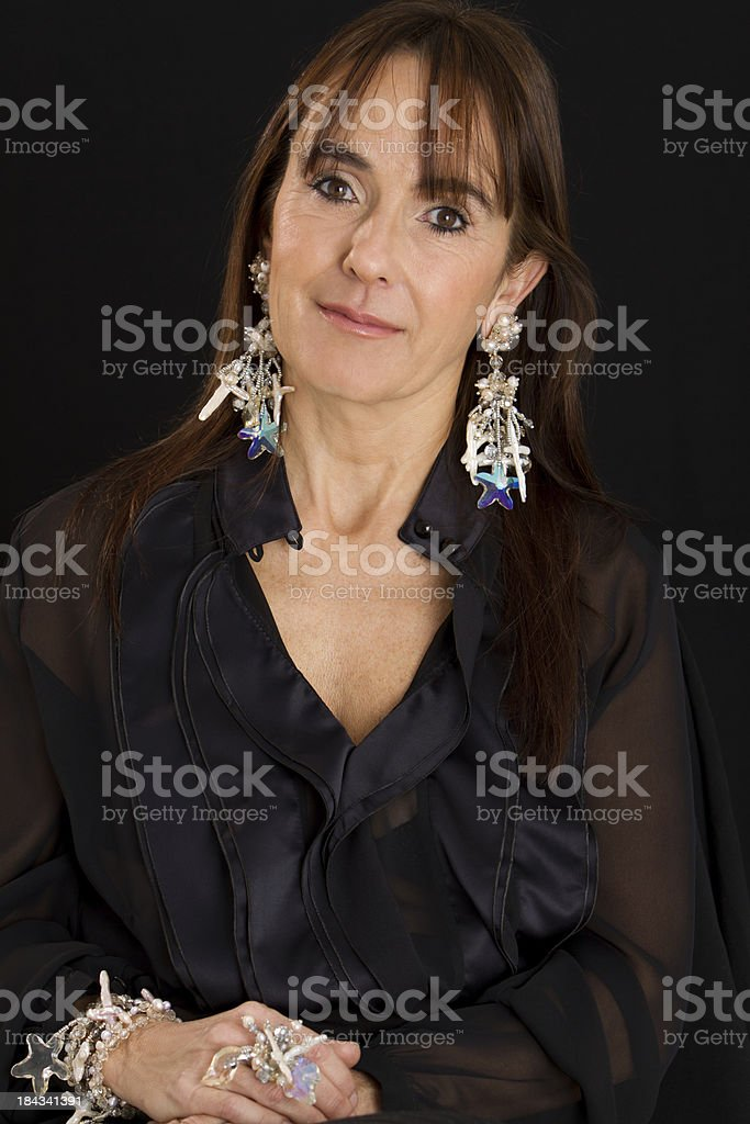 Beautiful woman in her 60's royalty-free stock photo