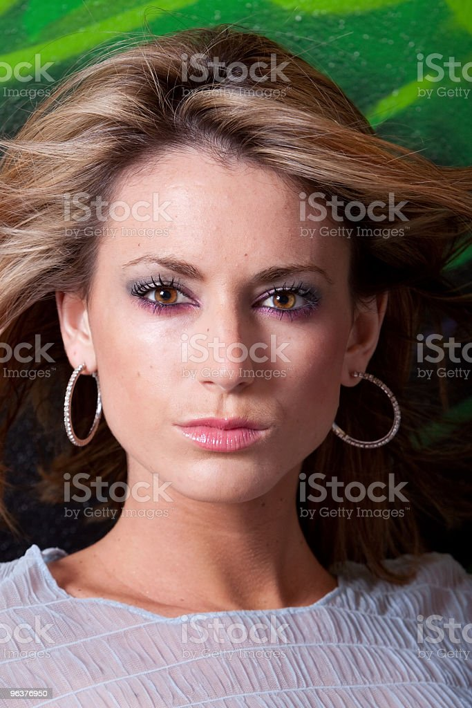 Beautiful woman in makeup stock photo