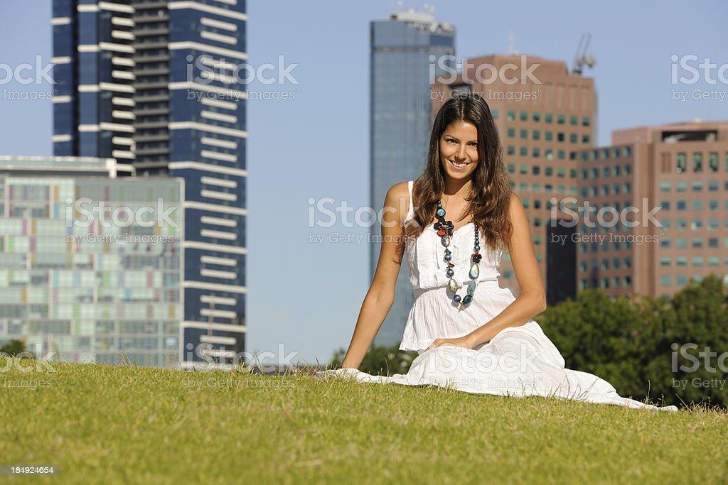 Beautiful Woman in Melbourne, Australia (XXXL) royalty-free stock photo