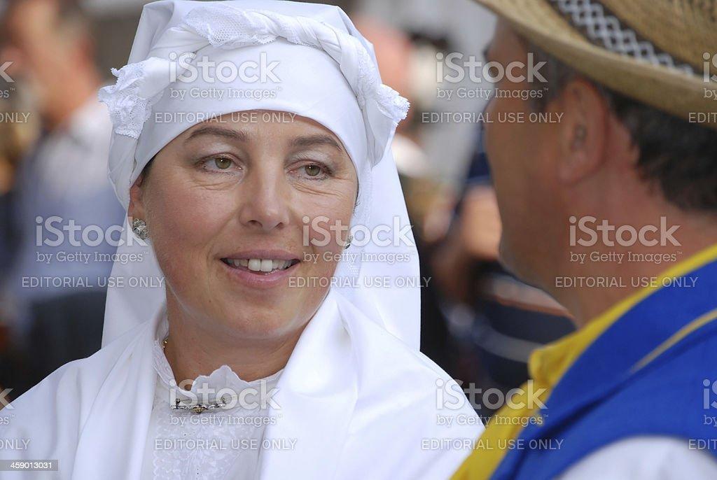 Beautiful Woman in National Costume stock photo