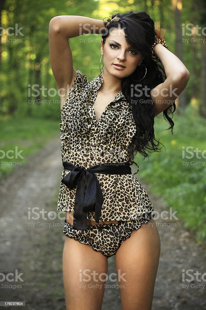 Beautiful woman in nature royalty-free stock photo