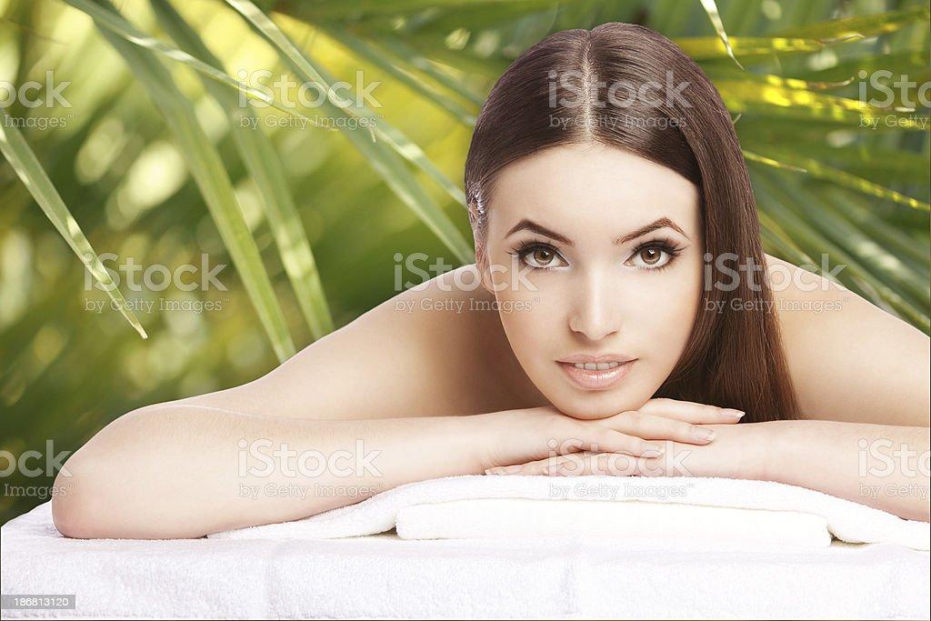 Beautiful woman in SPA royalty-free stock photo