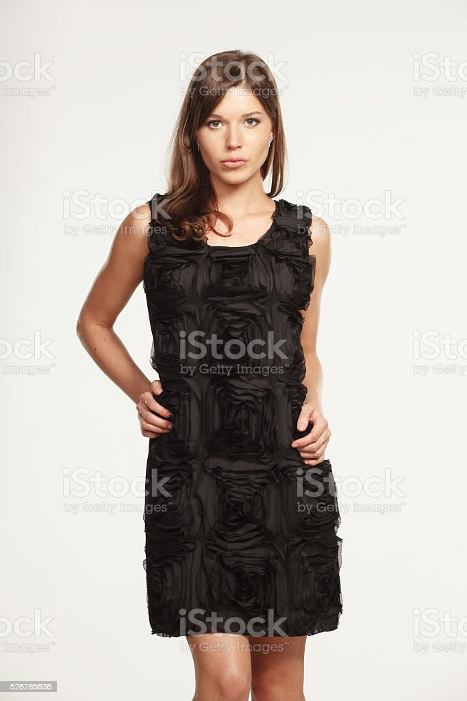 Beautiful woman in stylish clothes stock photo