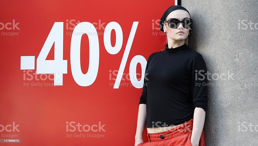 Beautiful Woman in Sunglasses and Kerchief royalty-free stock photo