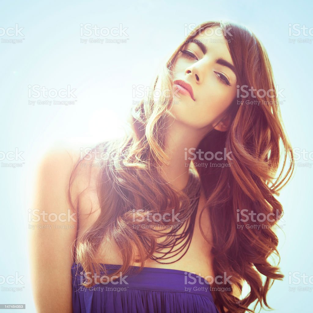 Beautiful Woman In The Sun royalty-free stock photo