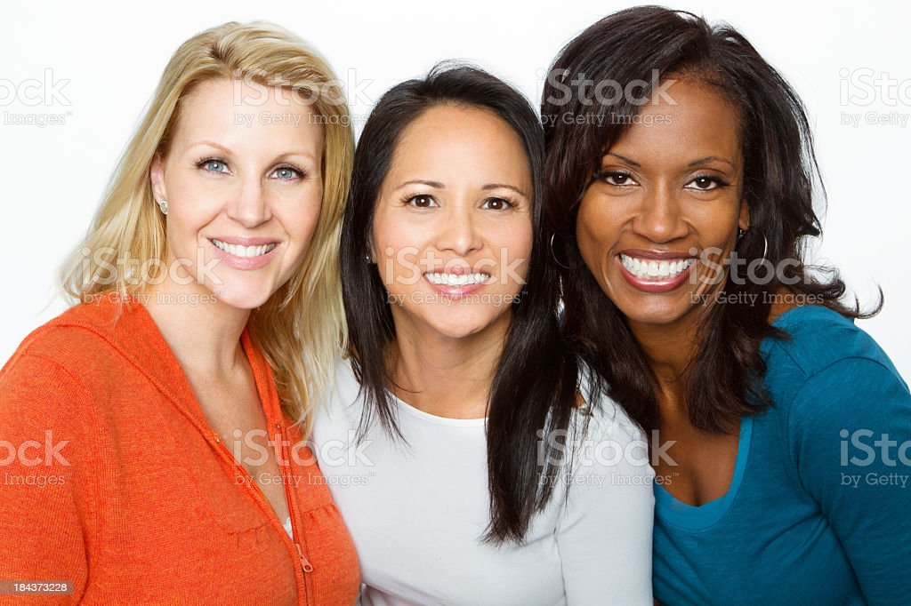 Beautiful woman in their 40's stock photo