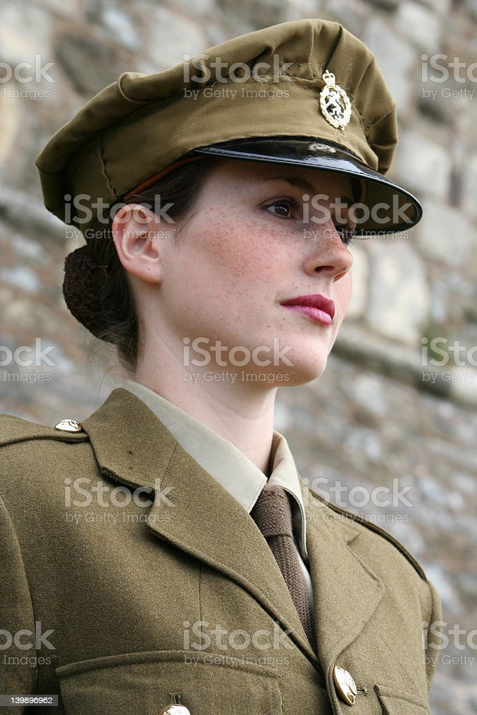 Beautiful Woman in Uniform 2 royalty-free stock photo