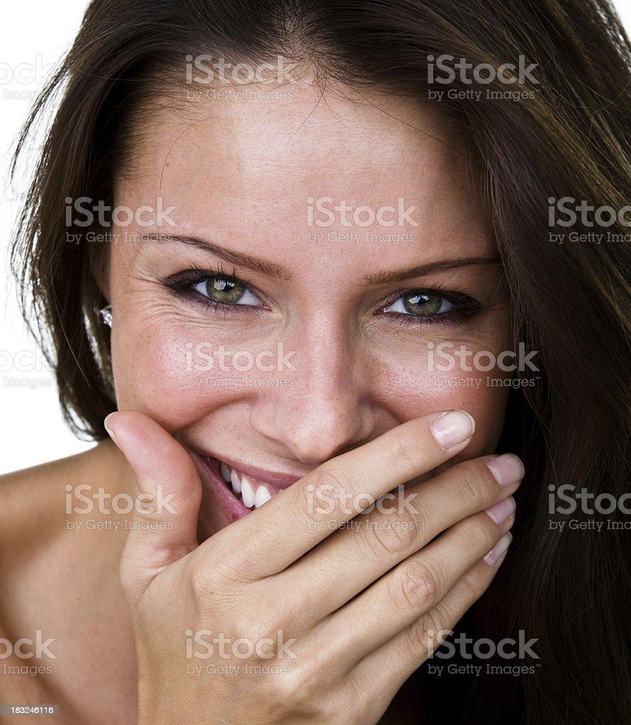Beautiful woman laughing royalty-free stock photo