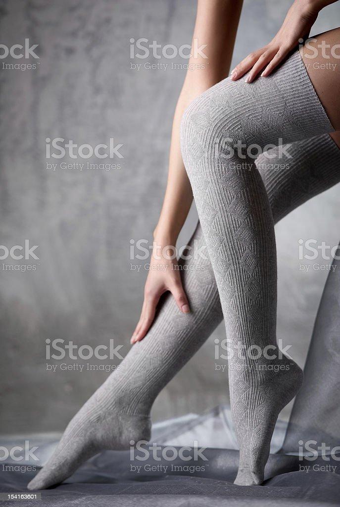 Beautiful woman legs royalty-free stock photo