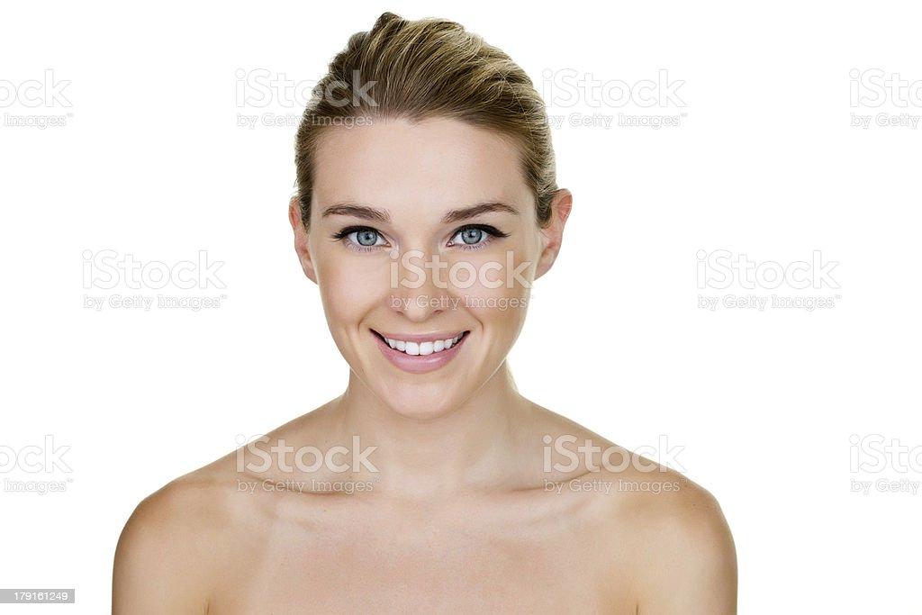 Beautiful woman looking at camera royalty-free stock photo