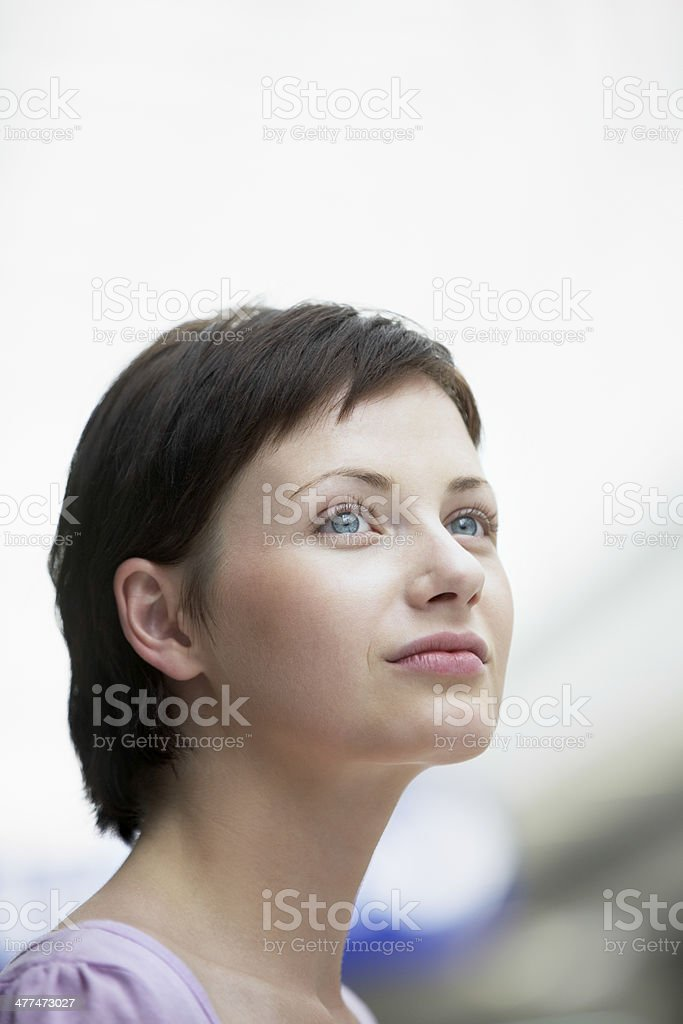 Beautiful Woman Looking Away royalty-free stock photo