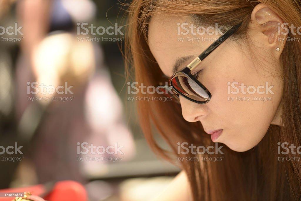 Beautiful woman looking royalty-free stock photo