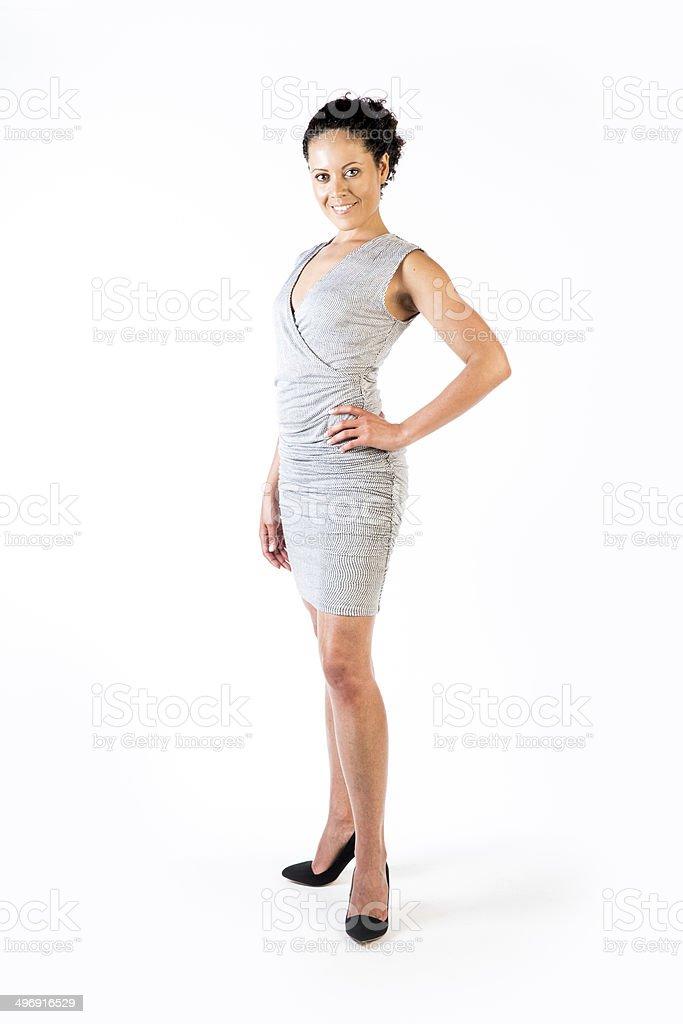 Beautiful woman of mixed race royalty-free stock photo