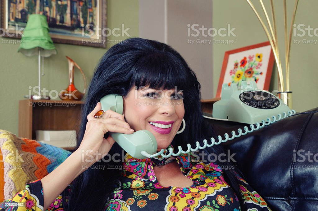 Beautiful Woman on Phone stock photo