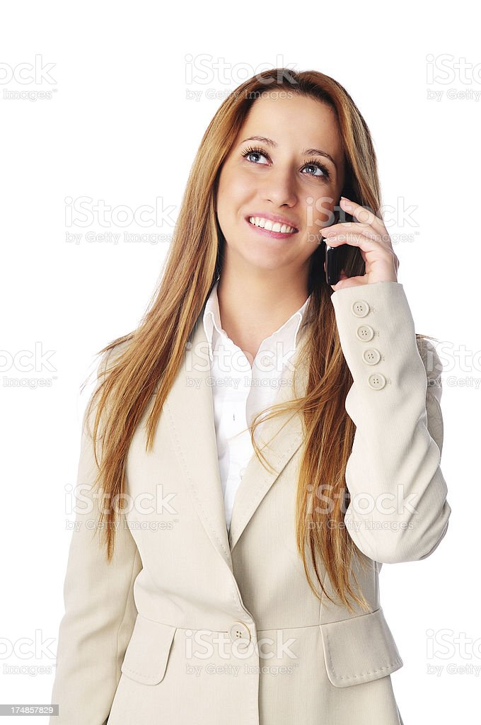 Beautiful Woman on the Phone royalty-free stock photo