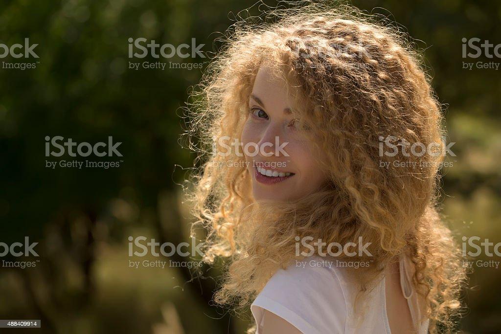 Beautiful woman outdoor stock photo