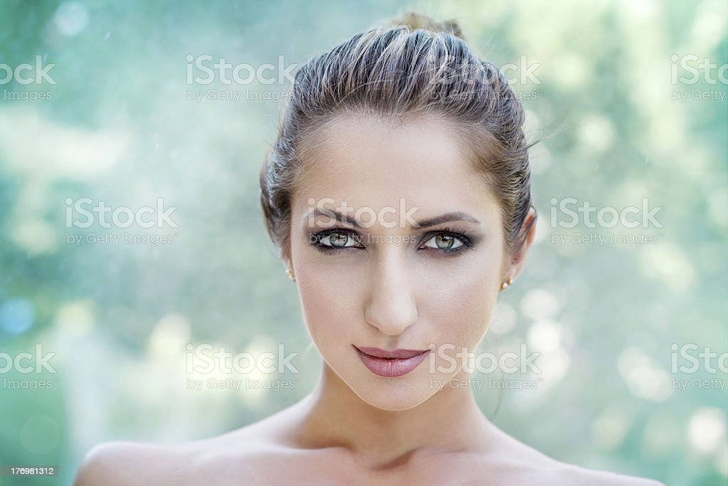 Beautiful woman outdoor portrait royalty-free stock photo