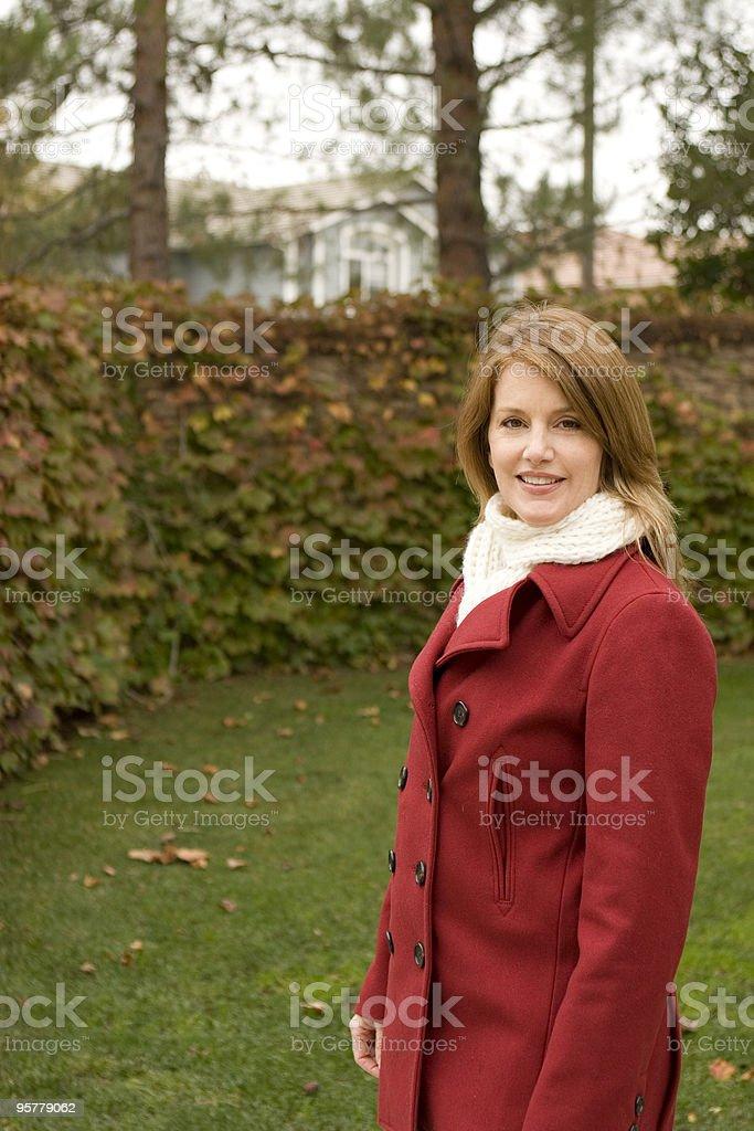 Beautiful woman outside royalty-free stock photo