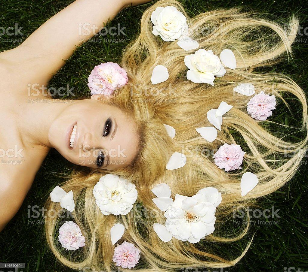 Mujer bella foto de stock libre de derechos