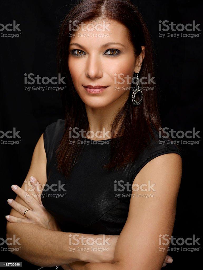 Beautiful Woman Portrait. Color Iamge stock photo