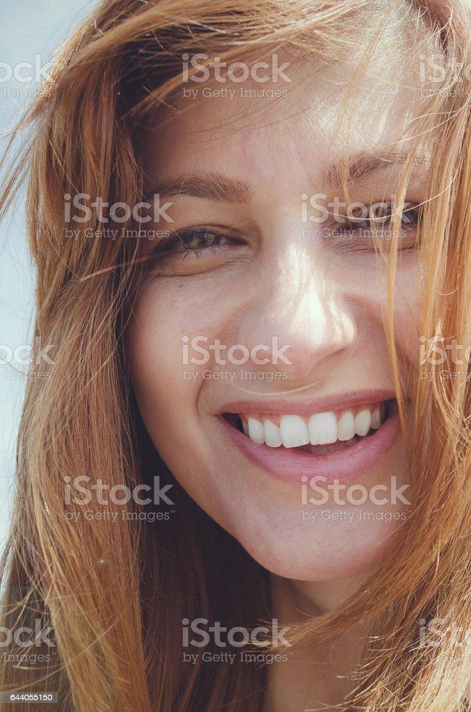 Beautiful woman portrait face stock photo