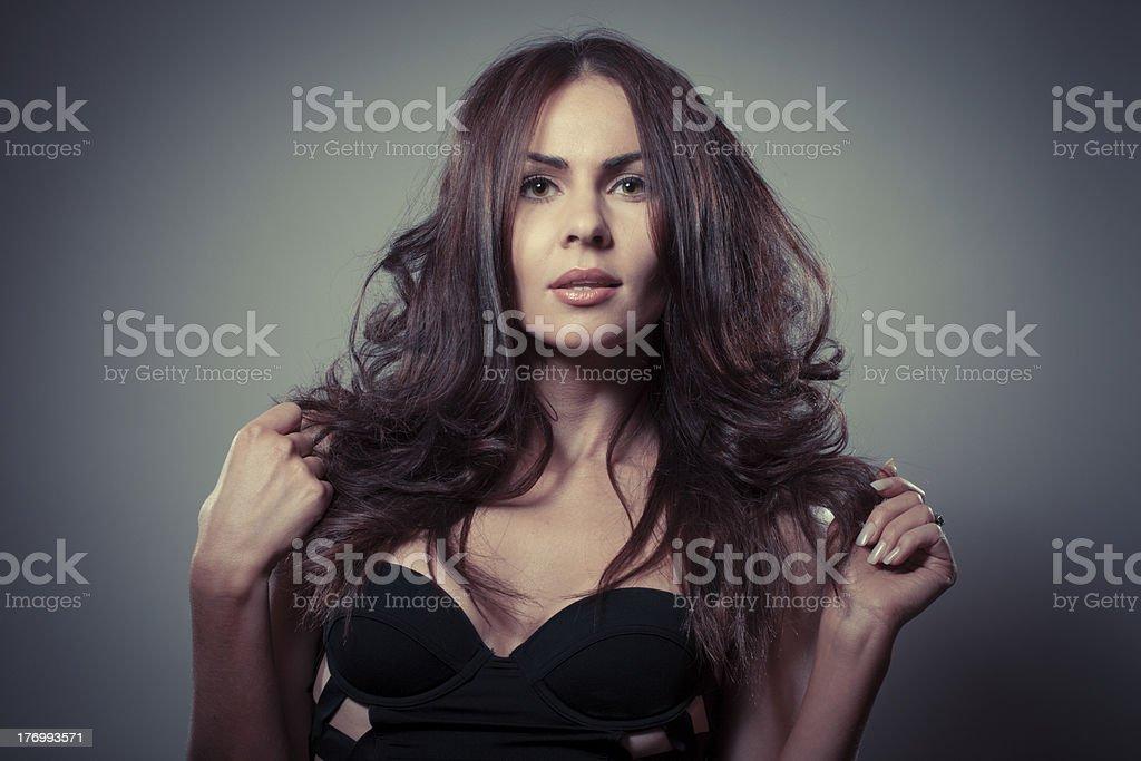 Beautiful woman portrait royalty-free stock photo