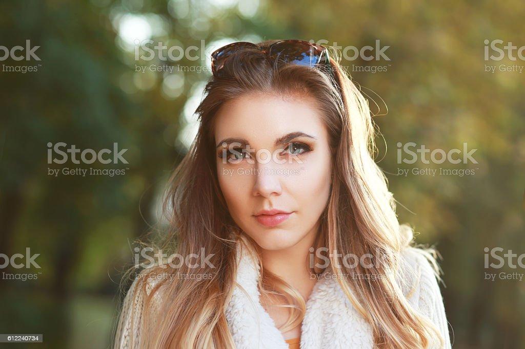 beautiful woman portrait stock photo