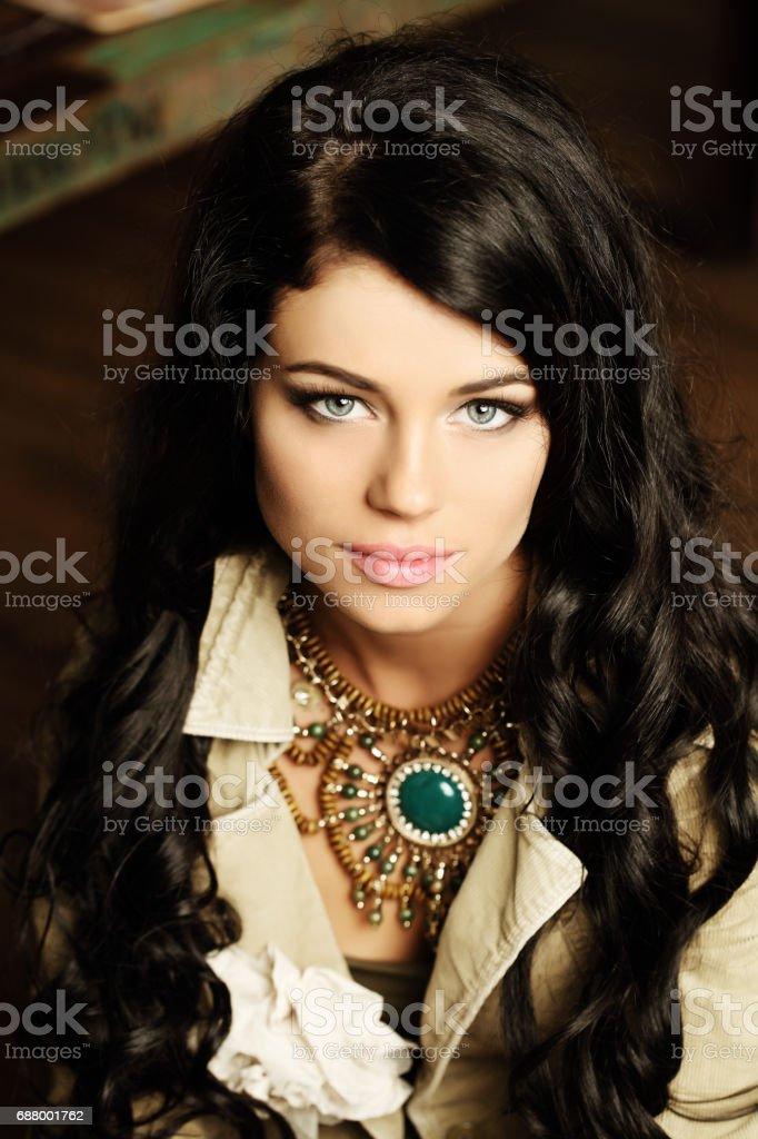 Beautiful woman, portrait stock photo