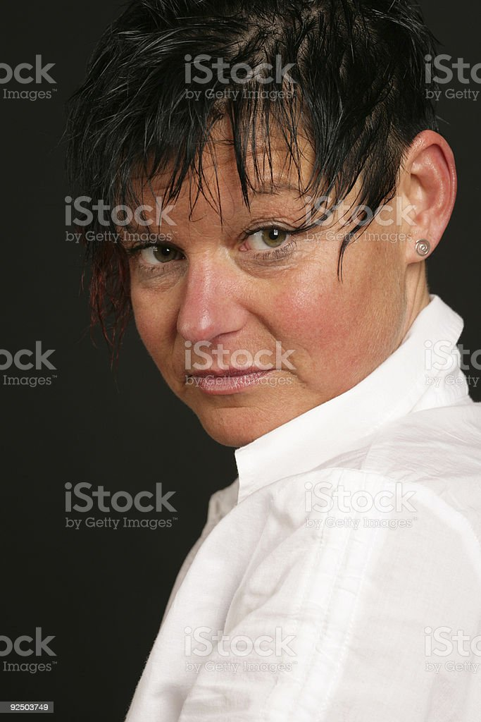 Beautiful woman portrait royalty-free stock photo