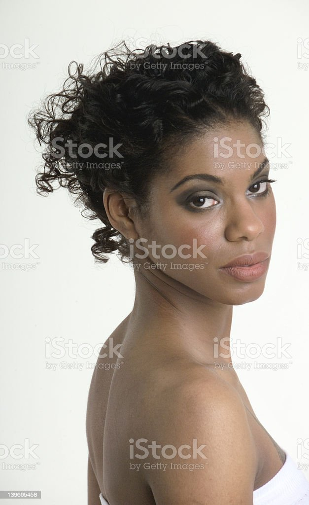 Beautiful woman preparing for a shower royalty-free stock photo