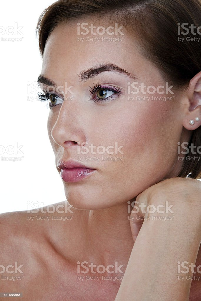 Beautiful woman profile royalty-free stock photo