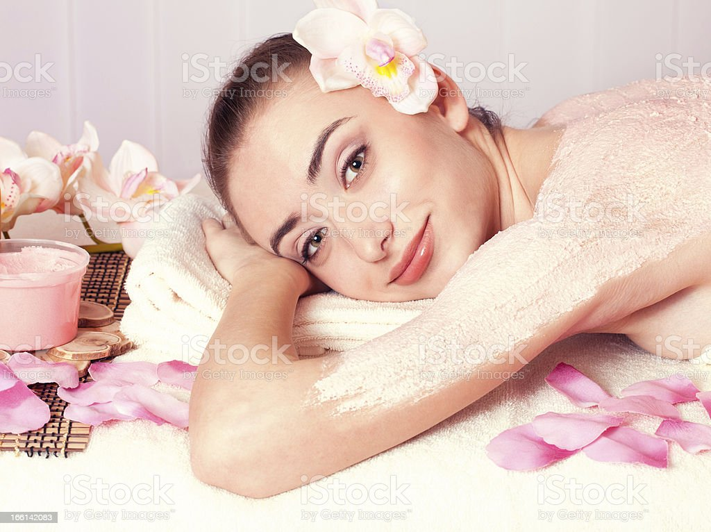 Beautiful woman relax in spa royalty-free stock photo