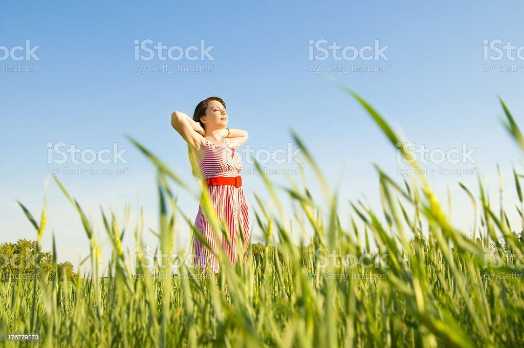 beautiful woman relaxation royalty-free stock photo