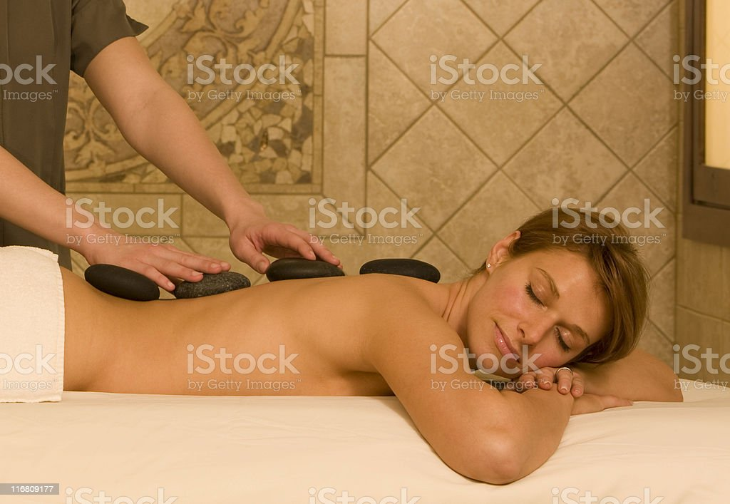 Beautiful Woman Relaxing At A Health Spa royalty-free stock photo