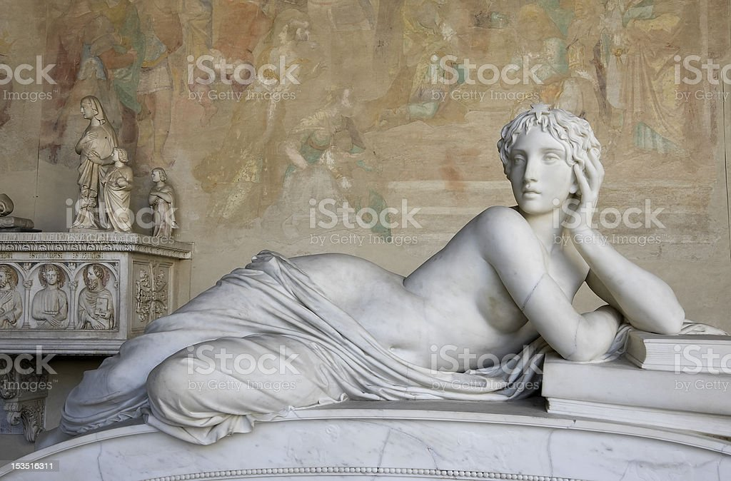 Schöne Frau-Skulptur Lizenzfreies stock-foto