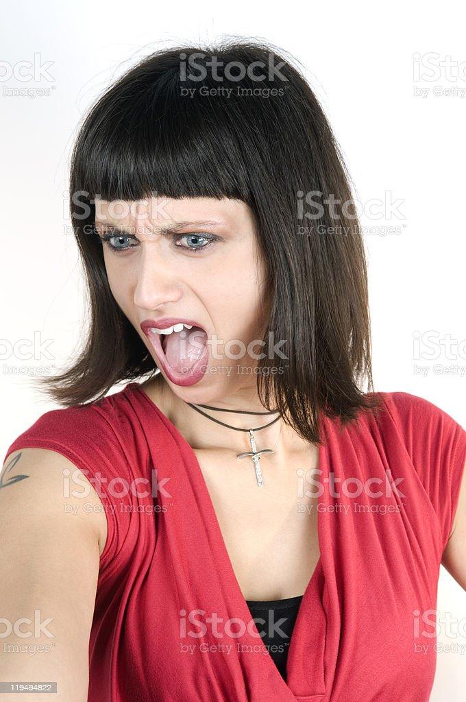 Beautiful Woman Shouting royalty-free stock photo