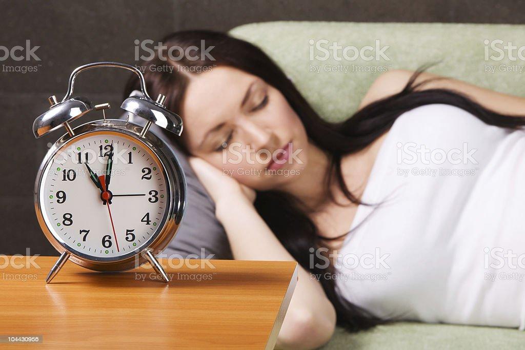 Beautiful woman sleeping royalty-free stock photo