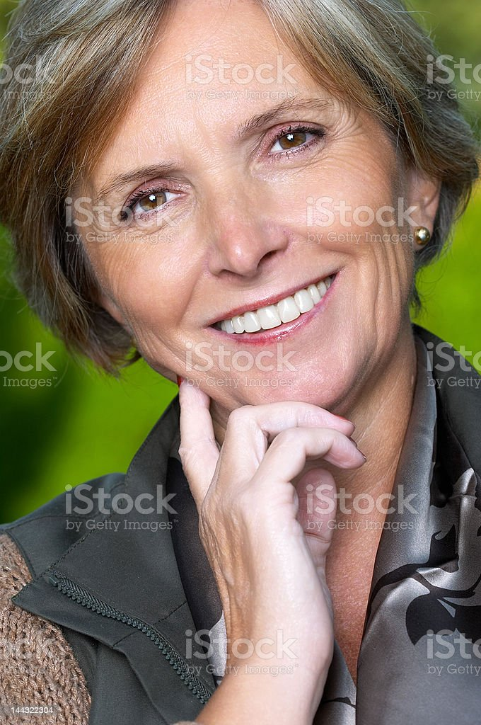 Beautiful woman smiles royalty-free stock photo