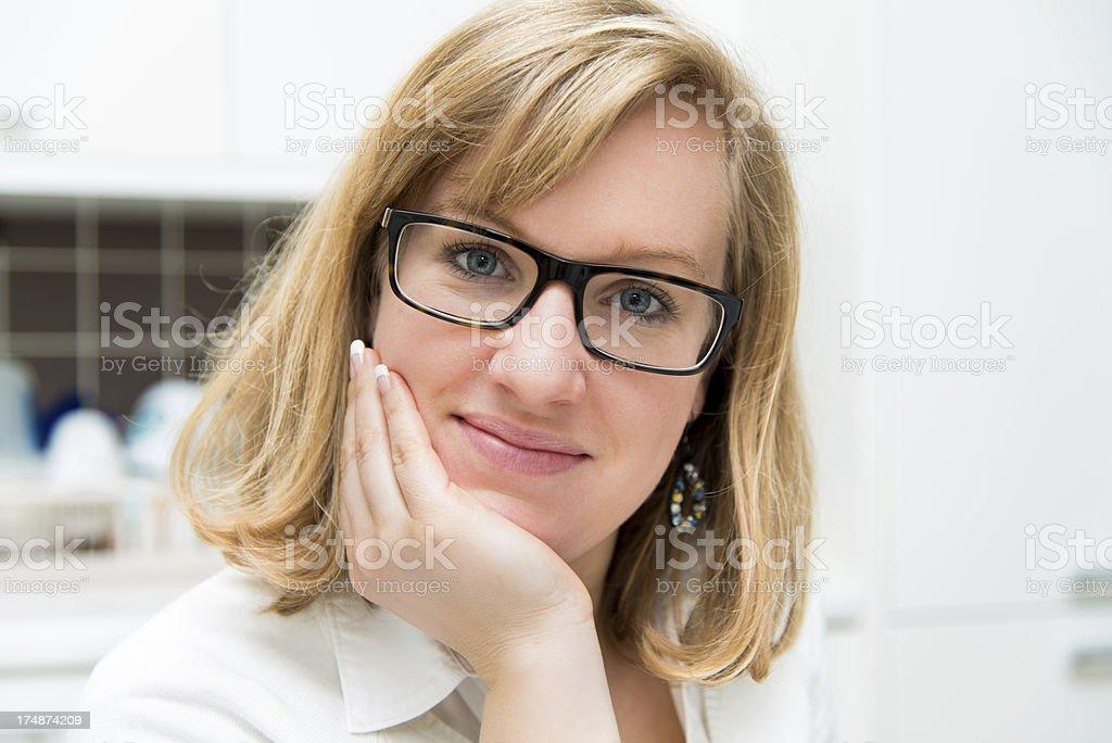 Beautiful woman smiling royalty-free stock photo