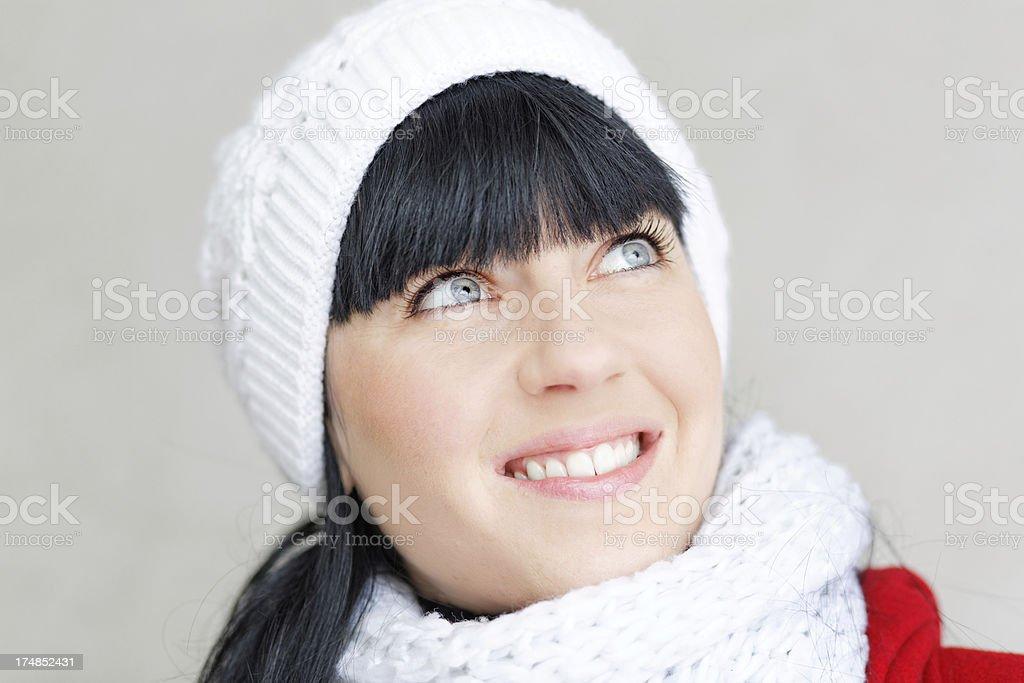 Beautiful woman smiling XXXL royalty-free stock photo